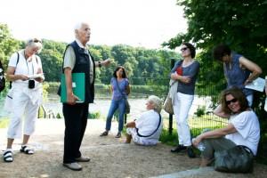 Mit Guide Fritz Frost in der Villenkolonie Babelsberg am Ufer des Griebnitzsees