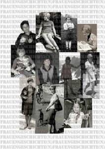 """Titelblatt Dokumentationsbroschüre Kreativprojekt """"Frauengeschichten"""" 2013/2014"""